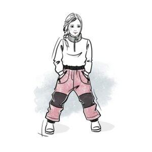 wykrój na spodnie dziecięce ocieplane online