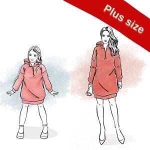 wykroje na sukienkę Santa damską plus size i dla dziewczynki
