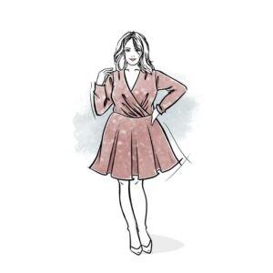 wykrój na sukienkę damską Serafina plus size