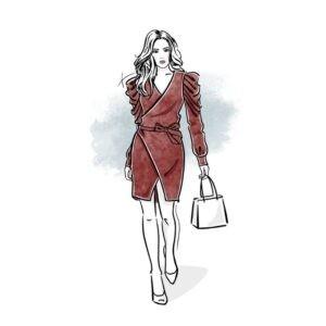 wykrój na sukienkę damską Tatiana online