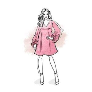 wykrój na sukienkę damską Taylor online