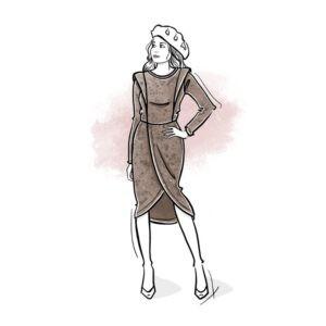 wykrój na sukienkę damską Tina online