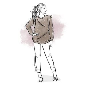 wykrój na bluzę damską Etna