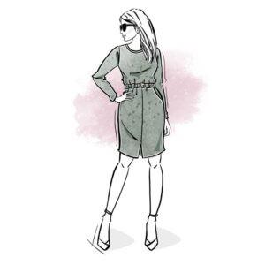 wykrój na sukienkę damską Emily