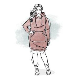 wykrój na sukienkę damską Loreta plus size
