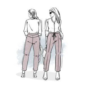 wykrój na spodnie damskie Daniela