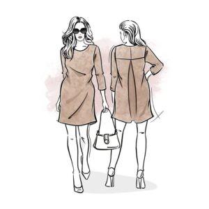 wykrój na sukienkę damską Daria