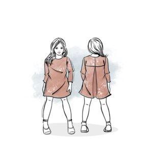 wykrój na sukienkę dla dziewczynki Daria