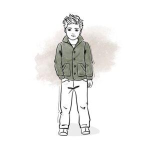 wykrój na bluzę dziecięcą Hubert