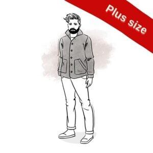 wykrój na bluzę męską Hubert plus size