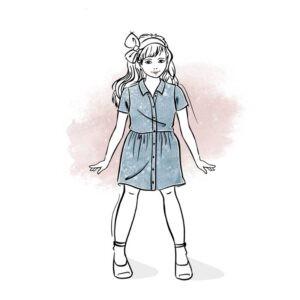 wykrój na sukienkę dla dziewczynki Hanna