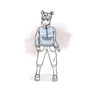 wykrój na bluzę Nino dla chłopca i dziewczynki