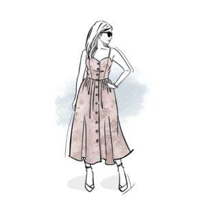 wykrój na sukienkę damską Joanna