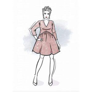 wykrój na sukienkę damską Julia