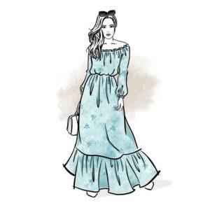 wykrój na sukienkę damską Madonna