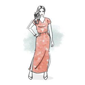 wykrój na sukienkę damską Marina