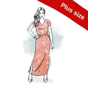 wykrój na sukienkę damską Marina plus size