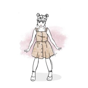 wykrój na sukienkę dla dziewczynki Joanna