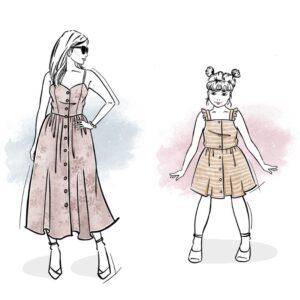 zestaw sukienek Joanna damska i dla dziewczynki