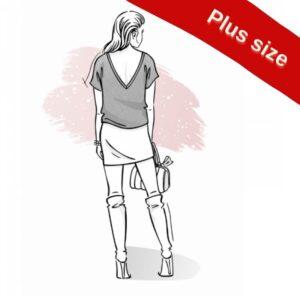 wykrój na bluzkę damską Kala plus size