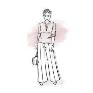 wykrój na koszulę damską Lila online strefa kroju i szycia