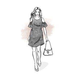 wykrój na sukienkę damską Lena wykrój online