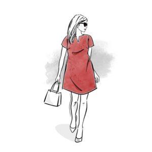 wykrój na sukienkę damską Laurencja online strefa kroju i szycia