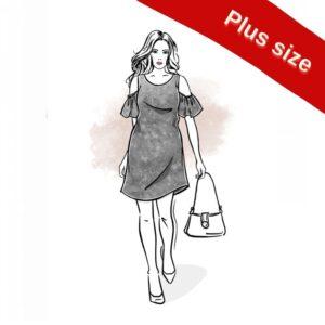 wykrój na sukienkę damską Lena plus size