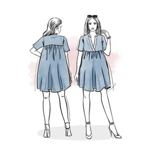 wykrój na sukienkę damską Santorini