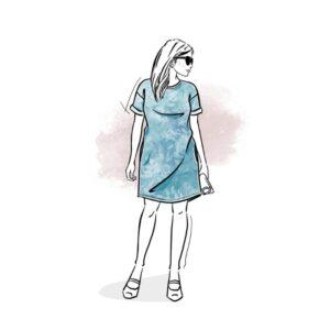 wykrój na sukienkę damską Sewilla