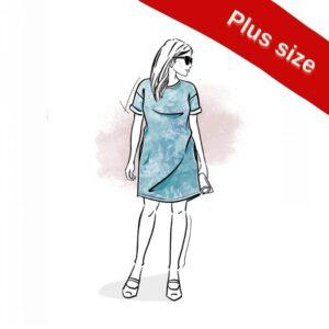 wykrój na sukienkę damską Sewilla plus size Strefa Kroju