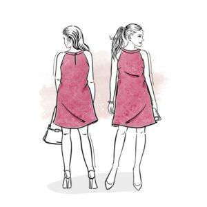 wykrój na sukienkę damską Venezia