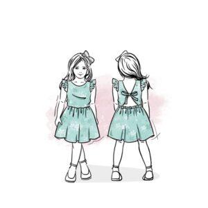 wykrój na sukienkę dla dziewczynki Liliana
