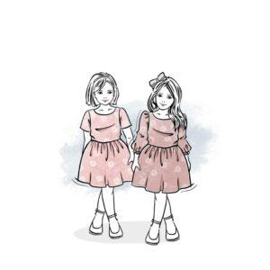 wykrój na sukienkę dla dziewczynki Melisa