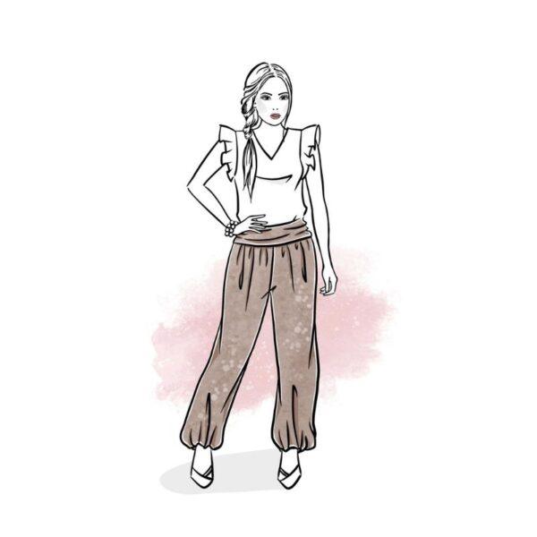 wykrój na spodnie damskie Jasmine online