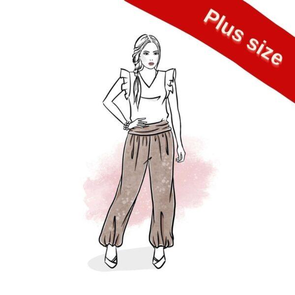 wykrój na spodnie damskie Jasmine plus size online
