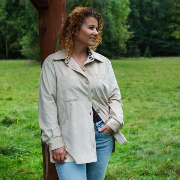 kurtka koszulowa damska lub płaszcz reja