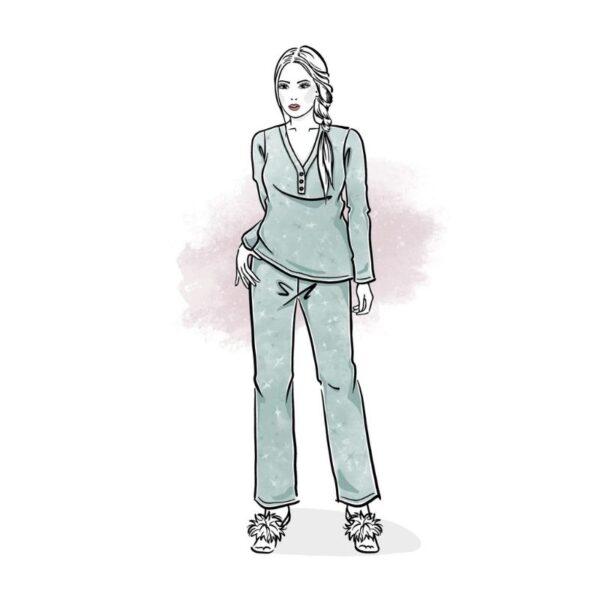 wykrój na piżamę damską dream dreams
