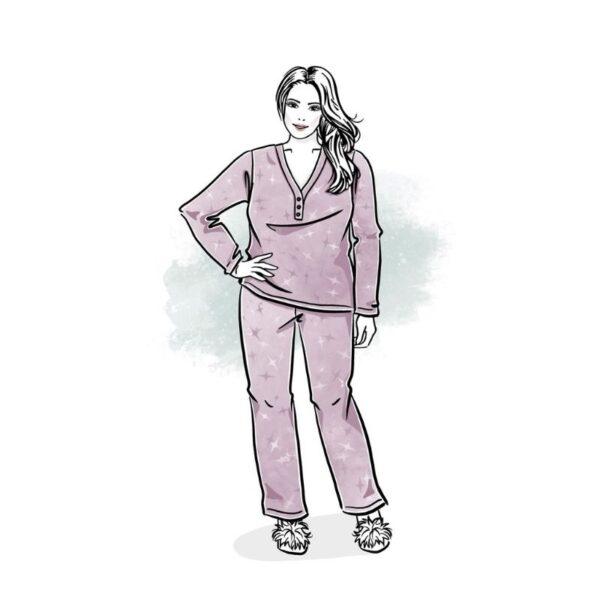 wykrój na piżamę damską plus size dream dreams