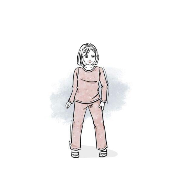 wykrój na piżamę dziecięcą dream dreams